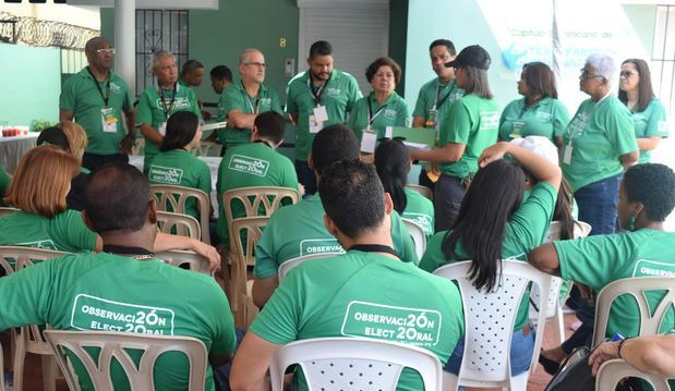 1800 voluntarios y voluntarias que participarán como observadores electorales en los comicios municipales de este 16 de febrero de 2020.