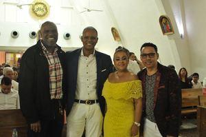 Tony Fox, Johnny Vargas, Jacqueline Estevez y Rafael Brito.