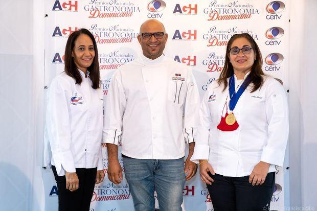 Los chefs Cruz Dircia Castillo, Martin Omar y Ana Lebrun.