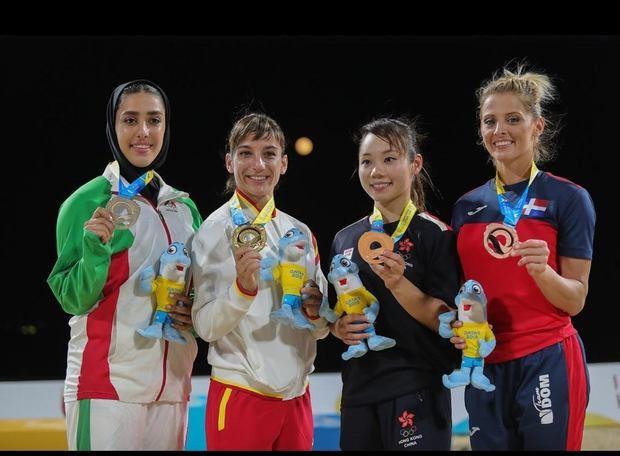 María Dimitrova gana medalla de bronce en I Juegos Mundiales de Playa