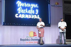 Reconocida chef Noemí Díaz en la noche gastronómica inspirada en el Merengue, la Bachata y el Carnaval.