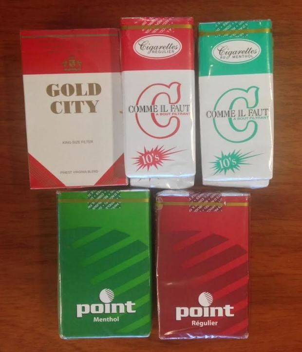 Cigarrillos de contrabando.