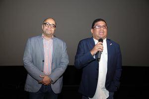 Omar de la Cruz Carlos Aguilera MInistro de Cultura Panamá y Director Película Panamá al Brown.