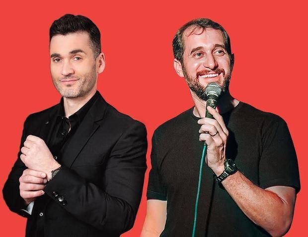 El Mago español y humorista Karim junto a nuestro Stand up comedy dominicano Carlos Sánchez.