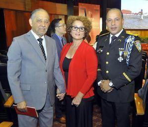 Luis Eduardo Lora Huchi; Betty Echavarría de Lora y General PN Javier Torres Dotel.