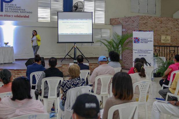 El taller fue desarrollado en el Colegio Dominicano de Periodistas.