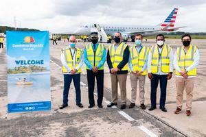 CESAC participa en inicio operaciones de American Airlines por Samaná.