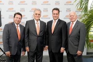 José Luis Matallana (Socio Resansil RD), Silverio Massimo Petrini (CEO Resansil RD), Eduardo Bello (Socio Resansil RD)