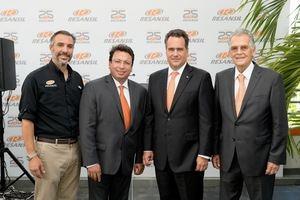 Jorge Abbott (Gerente General Resansil RD), Jose Luis y  Silverio Massimo Petrini (Presidente Resansil RD)