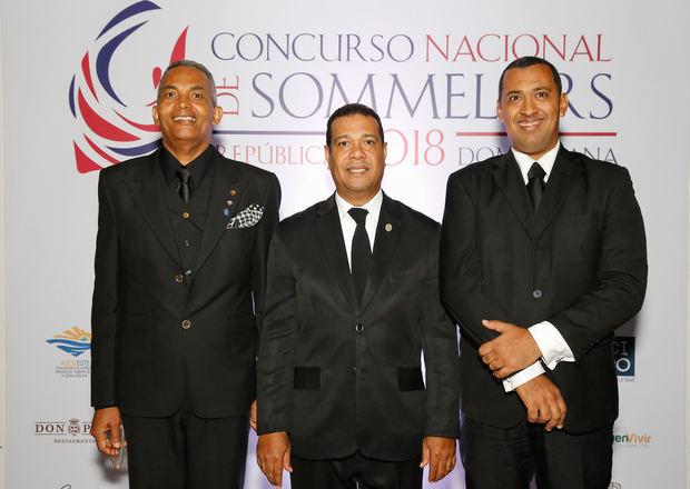Federico Díaz, Dario Rossario y José Antonio Monegro.