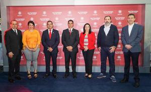 Gustavo Domingo, Ingrid Calcano, Peter Cabrera, Angel Alberto Then, Marlenny Contreras, Dario Muñoz y Tomas Pimentel.