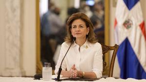 vicepresidenta de la República y coordinadora del Gabinete de Salud, Raquel Peña.