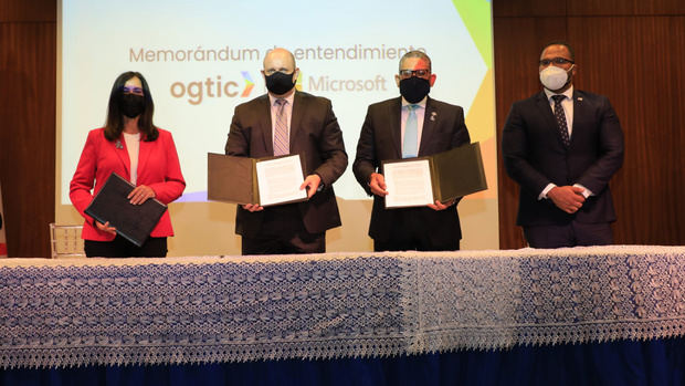 Instituciones del Estado recibirán innovación a través del acuerdo firmado por OGTIC y MICROSOFT