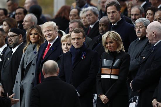 Macron, Merkel y Guterres abren el Foro de París con llamada preservar la paz