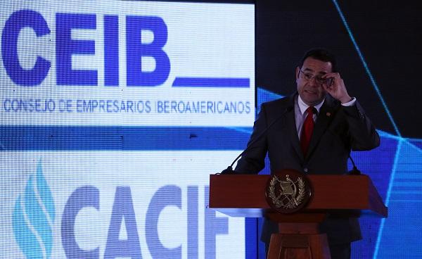 El presidente guatemalteco, Jimmy Morales