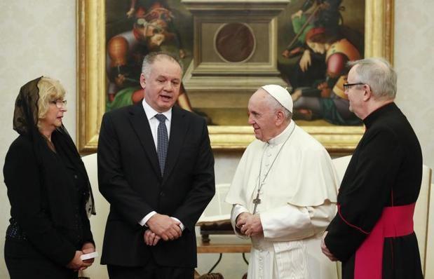 El papa Francisco se reúne con el presidente de Eslovaquia, Andrej Kiska, hoy en el Vaticano