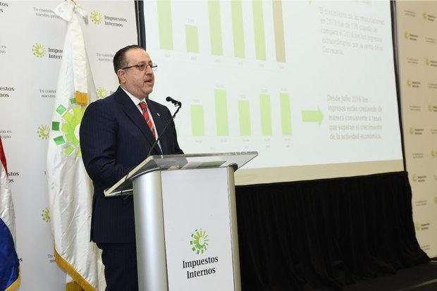 DGII logra mayor tasa de crecimiento de las recaudaciones desde 2013