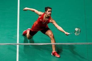 Carolina Marin durante el partido contra Nehwal Saina.