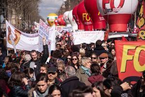 Francia protestas.