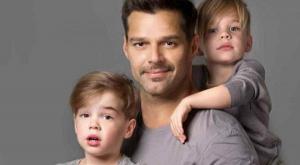 Ricky Martín y sus hijos