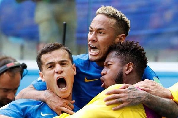 Brasil le gana 2-0 a Costa Rica y aspira a los octavos de final de Rusia 2018