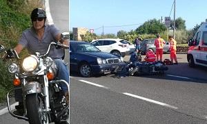 George Clooney en moto