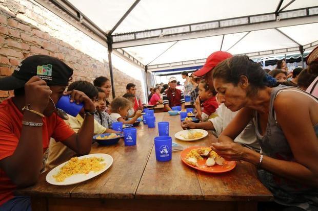 En la imagen, un albergue donde se atiende a ciudadanos venezolanos, en la ciudad de Cúcuta (Colombia).