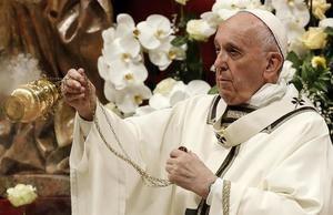 Papa Francisco, durante la homilía pascual.