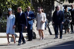 La Reina se encontró con otros miembros de la familia real británica,