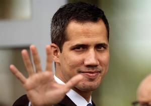 En la imagen un registro del jefe del Parlamento venezolano y líder opositor, Juan Guaidó.