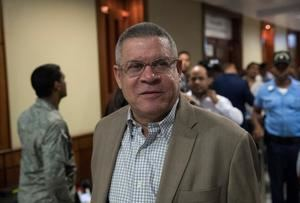 Roberto Rodríguez, exdirector de INAPA (Instituto Nacional de Aguas Potables y Alcantarillado), asiste a una audiencia por el caso Odebrecht este viernes, en la Suprema Corte de Justicia, en Santo Domingo (República Dominicana).