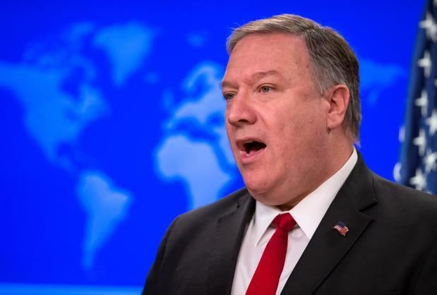 En la imagen, el secretario de Estado de Estados Unidos, Mike Pompeo..