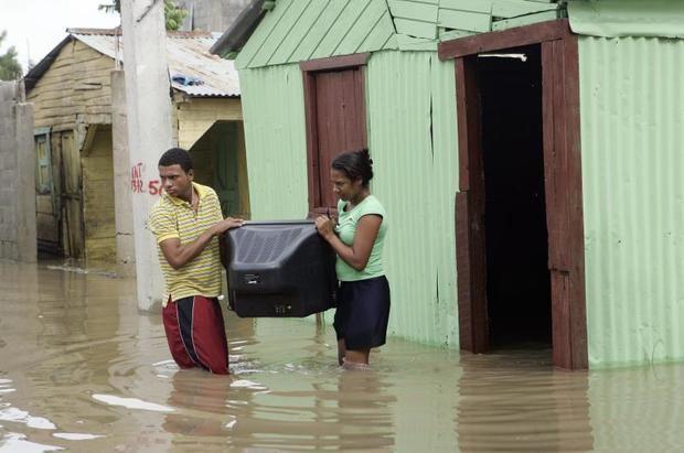 Cerca de 5,000 desplazados en el país por las fuertes lluvias