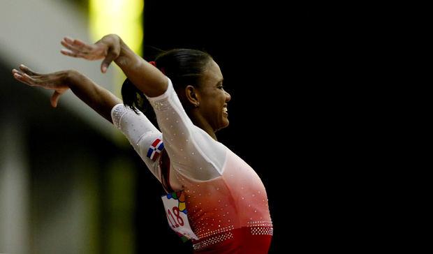 La gimnasta dominicana Yamilet Peña.