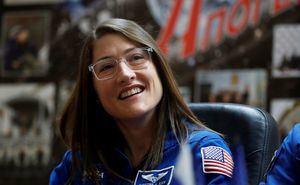 En la imagen, la astronauta Christina Koch.