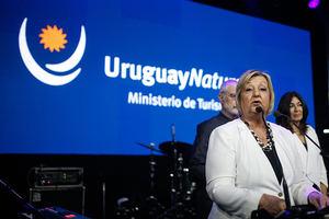 La ministra de Turismo de Uruguay, Liliam Kechichián, fue registrada este lunes, durante la presentación de la temporada de verano 2020, en el marco de la Feria Internacional de Turismo (FIT) de América Latina, en Buenos Aires (Argentina).