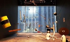 Vista de la instalación de David Todor titulada 'Rainforest' este jueves en el ala David Geffen, una de las nuevas salas remodeladas del icónico museo de Arte Moderno de Nueva York (MoMa).