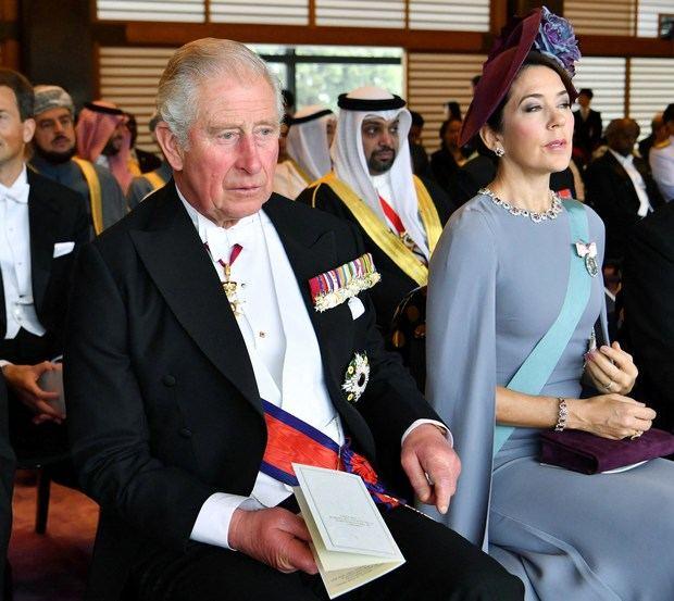 El príncipe Carlos y la princesa Mary de Dinamarca.