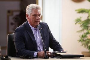 El presidente cubano Miguel Díaz - Cane.