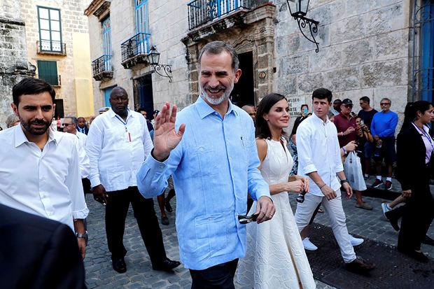Los reyes de España, de escapada por la Habana Vieja