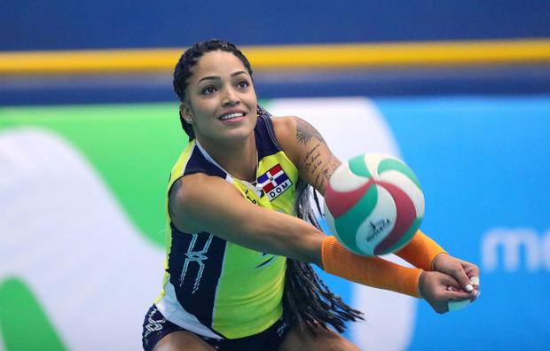 En la imagen, la jugadora dominicana Brenda Castillo.