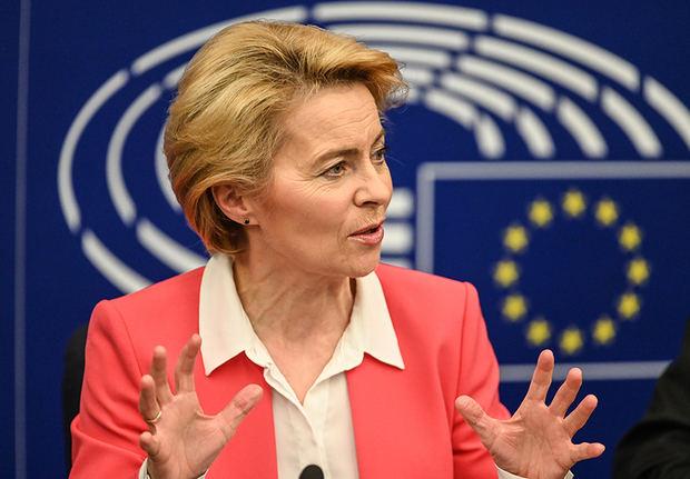 La presidenta de la Comisión Europea Ursula von der Leyen este miércoles.