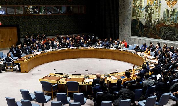 Vista del Consejo de Seguridad de las Naciones Unidas, en la sede de las Naciones Unidas, en Nueva York (EE.UU.).
