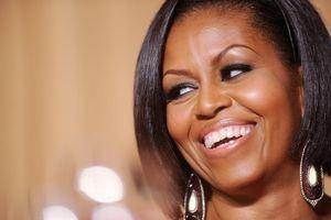 En la imagen un registro de la exprimera dama de Estados Unidos Michelle Obama.