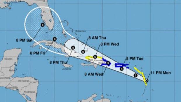 La tormenta Fred se mueve en la ciudad de Santo Domingo