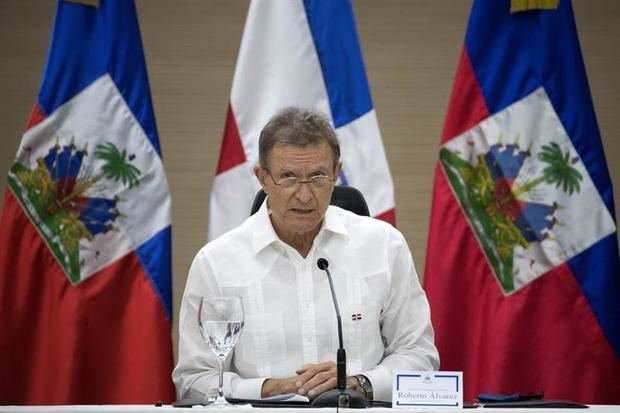 Canciller dominicano, Roberto Álvarez.