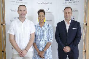 Markus Haack,  Arabelle Rosario y Santiago Rivera.