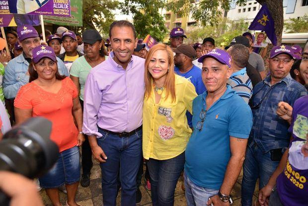 Domingo Contreras promete garantizar seguridad en la Avenida Duarte