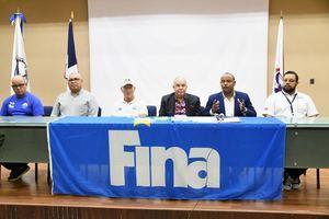 Participantes en el curso Certificación Nivel 1 FINA que tiene lugar en el local del Comité Olímpico Dominicano con la participación de entrenadores y monitores de todo el país.