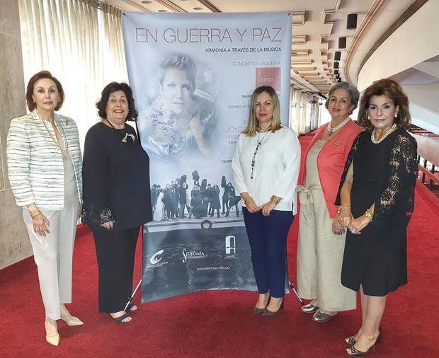 Ejecutivas de las Fundaciones Sinfonía y Amigos del Teatro Nacional, auspiciadas conjuntamente.